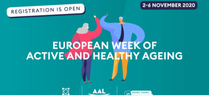 European Online Week of Active & Healthy Ageing (EWAHA) on 2-6 November, 2020: registration is open